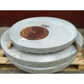 Cement dæksel 100x7 cm - 30 cm mandehul