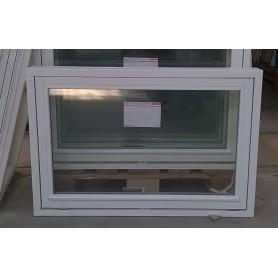 Topstyret Vindue 90x60cm Hvid Malet / Hvid Aluliste
