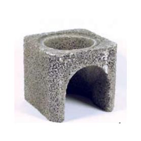 Isokern bundblok til falsrør 21,5 x 18,5 x 15cm