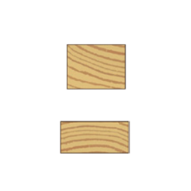 Høvlet firkant liste 15x33mm