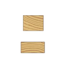 Høvlet firkant liste 21x43mm