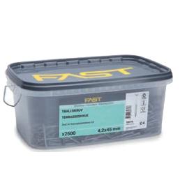 Træskrue 4,5 x 50 mm Indendørs 600 stk Maxi Box