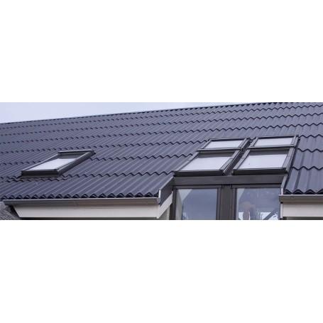 Stålplade sinus variant 336 cm sort polyester