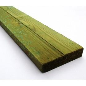 38x100 mm Trykimprægneret Ru planke