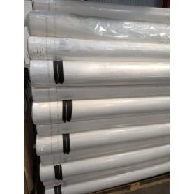 Vindspærre 1,5x50 m 100 gr. hvid/hvid med sort overlap