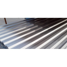 Stålplade silver 100 x 400 cm 20/35. 0,6 mm