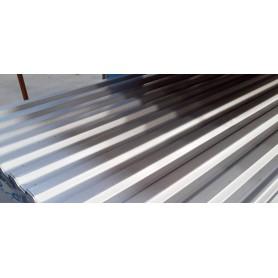 Stålplade silver 100 x 300 cm 20/35. 0,6 mm