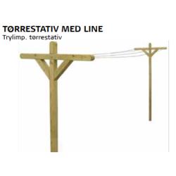 Tørrestativ Med Line Trykimp. Restparti