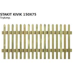 Stakit Kivik Trykimp. 150x75 cm RESTPARTI