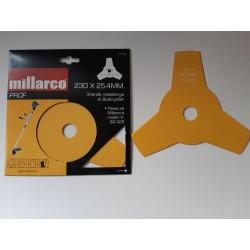 Buskrydderklinge Millarco 3-Tands D 230 mm H 25,4 mm 25 stk