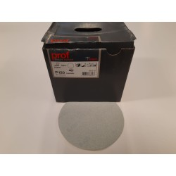Slibeskive M/Velcro D 150 mm Korn 120 Kasse Med 100 Stk