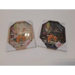 Billedramme 15x21/29,7x42 cm - 3 Valnød + 3 Natur Eg (Sælges i pakke med 6 stk)