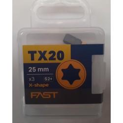 FAST Bits Torx T20-T25-T30-T40 - 25/50 mm