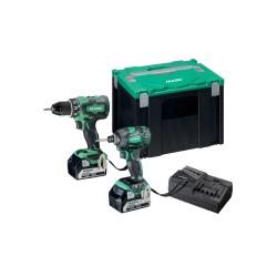 Hikoki Kombi Skrue/Slagskrue 18V Incl. 2x5.0 Ah Batterier