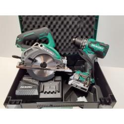Hikoki Kombi Slagskruemaskine/Rundsav 125 mm Incl. 2x5,0Ah Batterier