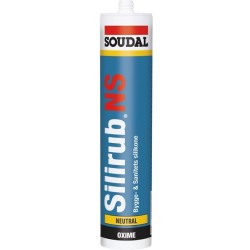 Silirub N Bygge silicone Hvid-Klar