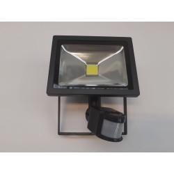 Led Projektør m/ Sensor 20 w 19x18 cm