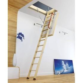 Fakro Lofttrappe 70x94x280 cm 4-Delt Hvid Lem