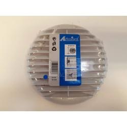 Jalousirist lys grå ø 166 mm. 80-125 mm rør m/klemmer