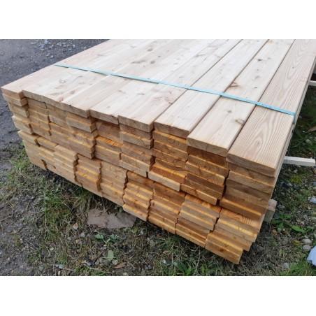 Terrassebrædder Sibirisk Lærk 32x125 mm 126 stk. à 510 cm Ca. 80 m² (høvlfejl på de sidste 60 cm)