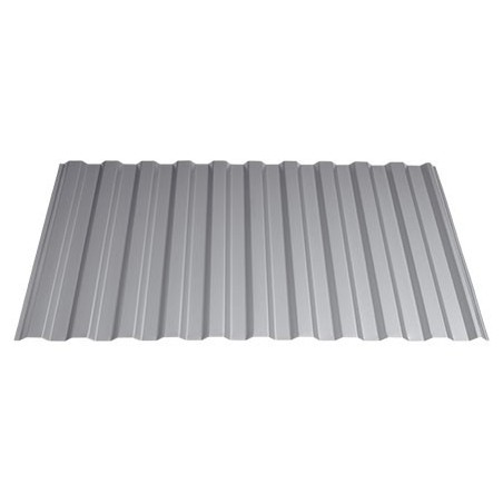 Areco Stålplade 20/35  Hvid Tag/Væg 107x250 cm (Dækmål 100 cm)