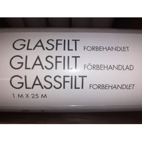Color Glasfilt Forbehandlet 1x25 Mtr.