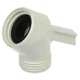 Bruserbøjning med tap - Plast Ophængstap til 3-punkt Vægholdere Hvid og Chrome