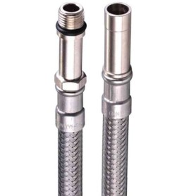 """KOMBI FLEX® armaturslange M10 x 10 mm - 1/2"""" - 3/8"""" Længde 500 mm"""