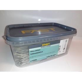 Terrasseskrue 4,8 x 75 mm 1000 stk. maxi box