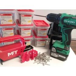 MFT + HIKOKI TILBUD Monteringsværktøj incl. 2000 skruer & Hikoki Skruemaskine 18V incl. 2x5,0 Ah batteriere