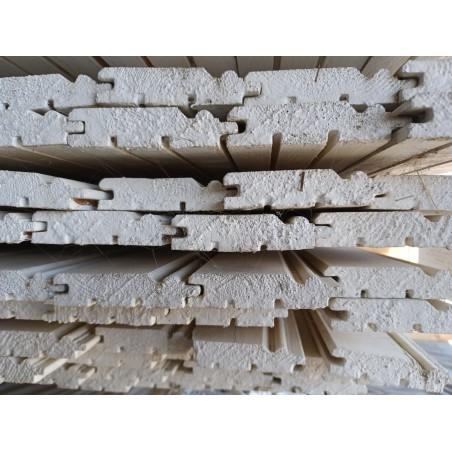Beklædning 21x95 mm Hvidmalet 2. Sortering men pæne 167 stk. på 420 cm ca. 61 m²