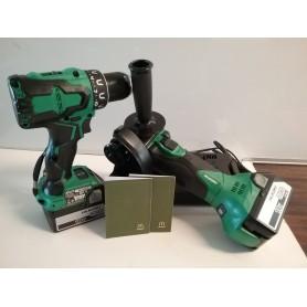 Hikoki Kombi Bore/skruemaskine + Vinkelsliber 125 mm Incl. 2x5,0 Ah Batterier/Lader + 2 Gavekort til Mcdonald`s