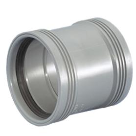 Dobbeltmuffe - 32-40-50-75-110 mm
