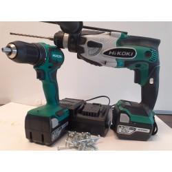 18 V light prof boreskruemaskine - borehammer, 2x5,0 ah batteri og lader