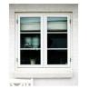 Bondehus vindue 89x99 cm hvid Model Antik 2 lags termo
