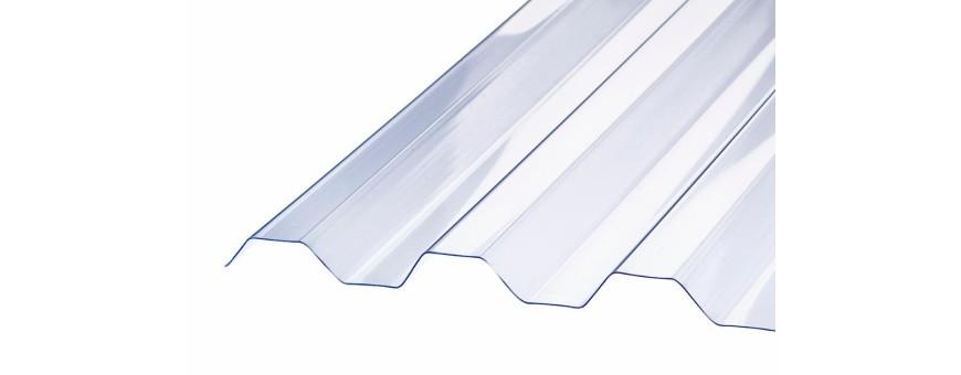 Trapezplader Glasklar